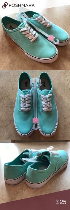 Mossimo Imitation Vans Sneakers These Mossimo sneakers look just like VANS!! They are BRAND NEW and NEVER WORN! NEW with tags. Size 9 Turquoise Sneaker. Inside bed is also very soft. Mossimo Supply Co Shoes Sneakers