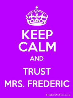 Trust Mrs. Frederic - Warehouse 13