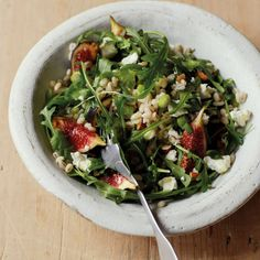 Barley Salad with Figs and Arugula http://www.prevention.com/food/5-recipes-that-will-make-you-look-and-feel-younger/slide/2