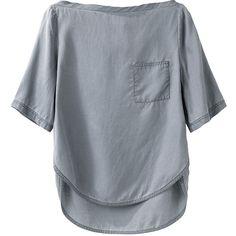 3.1 Phillip Lim T-Shirt w Lapeled Hem ($148) ❤ liked on Polyvore