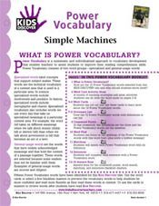 FREE, printable 16-page vocabulary packet for Kids Discover Simple Machines!
