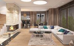 Elegancki salon z kominkiem - zdjęcie od Ludwinowska Studio Architektury - Salon - Styl Glamour - Ludwinowska Studio Architektury