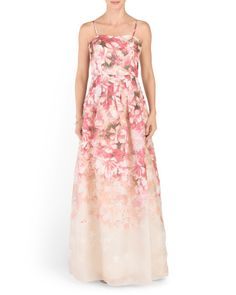 Silk Long Floral Gown