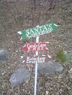 Reindeer crossing yard sign