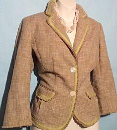 Yellow/Tan Ann Taylor Blazer Size 10P