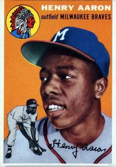Hank Aaron Rookie Card, 1954 Topps #128 Hank Aaron, Braves Baseball, Sports Baseball, Baseball Stuff, Baseball Art, Baseball Photos, Baseball Odds, Baseball Movies, Baseball Classic