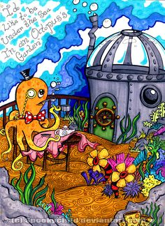cool---Octopus's Garden by MelissaDalton