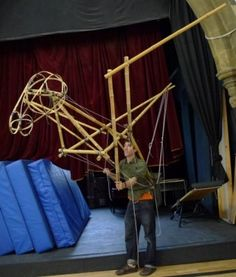 Pete Gunson and Eleanor Hooper large scale puppet workshop