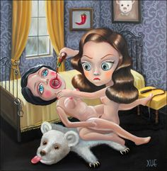 Exploring The Sickly Sweet With Xue Wang - NEWS - FRANK151 - Xue Wang is a Chinese-born artist who takes a very bizarre approach to her illustrations. Xue's new collection features cute dolls doing some pretty far out up shit. Each picture may appear sweet but it's actually sinister and unsettling.