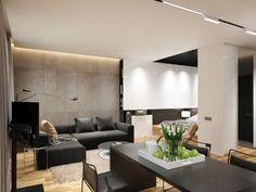 Sanieren Renovieren 75 Ideen Weissen Wohnzimmer Indirekter Beleuchtung Led Abgehngte Decke Schwarz Wohnraum