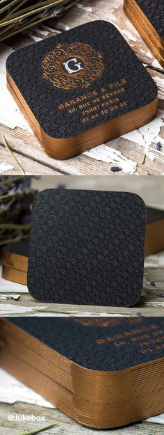 Stylish Square Business Card featuring a multi-coloured foil design + copper edge finishing. Produced by Jukebox Print. Foil Business Cards, Square Business Cards, Unique Business Cards, Print Design, Web Design, Design Cars, Branding Design, Logo Design, Identity Branding