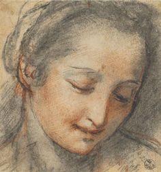 notizie  G.M.  guido michi: Federico Barocci, Testa di donna, Firenze, Gabinet...