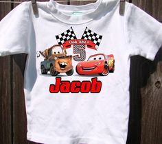 Cars Birthday Shirt Personalized With Name by AimToPleaseCreations, $13.75