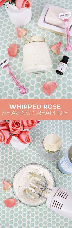 Whipped Rose Shaving Cream DIY – A Beautiful Mess