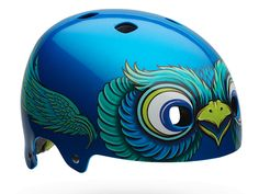 coolest bike helmets for kids: the Glacier Blue Bird by Bell design is awesome