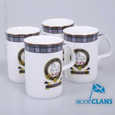 Cochrane Clan Crest Bone China Mugs. Free Worldwide Shipping Available