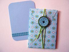 Minibrief mit Kärtchen von verstempelt auf DaWanda.com