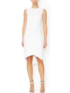 Draped Asymmetrical Hem Dress by Narciso Rodriguez at Gilt
