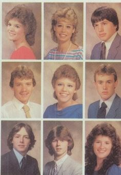 1985 Hair In The Yearbook Of Heritage High School Ini Monroeville Indiana