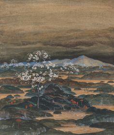 Herbert von Reyl-Hanisch (Austrian, 1898 - 1938)  Fanciful Landscape, 1924  Mixed Media