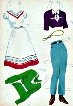 Western Paper Dolls These Western Paper Dolls are from Saalfield, American Craft numbered 711 and are from 1959.  They originally sold for 29 cents