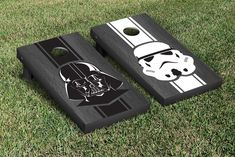 Star Wars Cornhole Game Set Empire Onyx Stained Stripe Version
