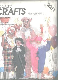 7817b12982ee Costumes McCalls Pattern 2211 Clown Jumpsuit Mardi Gras Adults  amp   Childrens… Mccalls Patterns
