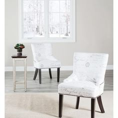Shop for Safavieh En Vogue Dining Paris French Writing Nailhead Dining Chairs (Set of 2). Get free shipping at Overstock.com - Your Online Furniture Outlet Store! Get 5% in rewards with Club O! - 14138449
