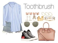 """""""Toothbrush"""" by anaelle2 ❤ liked on Polyvore featuring Levi's, Isabel Marant, Comme des Garçons, Givenchy, Ray-Ban, Cartier, Letters By Zoe, Hirotaka, Maison Margiela and Alexander McQueen"""