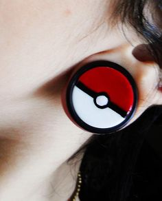 Pokemon ball plug with o rings #piercing #plugs #bodyjewelry