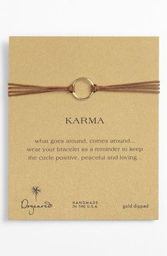Dogeared 'Karma Circle' Cord Bracelet available at #Nordstrom