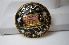 Vintage Spanish Damascene Pin Brooch Galleon Ship in Jewelry & Watches, Vintage & Antique Jewelry, Costume, Retro, Vintage 1930s-1980s, Pins, Brooches | eBay