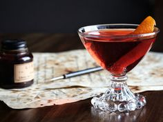 This classic twist on a Negroni adds in some absinthe to bring great herbal and light anise flavor that lingers in the background.