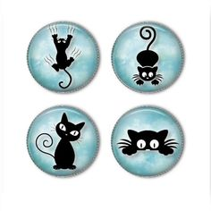 -Cute Kitties magnets or pins - Choose your own set of Kitty buttons, refrige.- Cute Kitties magnets or pins – Choose your own set of Kitty buttons, refrigerator magnets, fridge magnets, office magnets – <br Pebble Painting, Dot Painting, Pebble Art, Stone Painting, Painted Rock Animals, Painted Rocks, Hand Painted, Stone Crafts, Rock Crafts