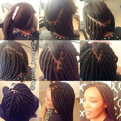 """voiceofhair: """" Reduce installation time for box braids using the #quickparting method developed by #AtlantaBraider, Ekua @braidsbyekua These #boxbraids are lightweight! She specializes in painless..."""