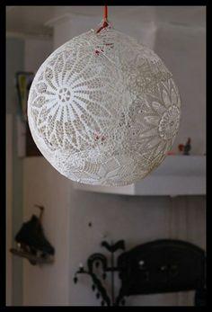 Lace lamp balloon