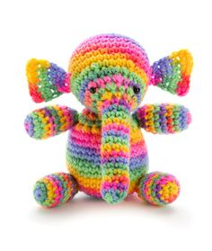 Colorful Elephant Crochet Pattern | Red Heart