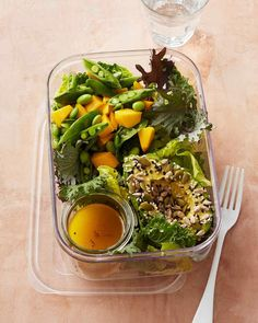 Avocado, Mango, and Toasted Seed Salad Healthy Recipes | Martha Stewart Living � You�ll adore the combination of textures in this transport-friendly salad -- crisp greens are topped with creamy avocado.
