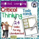 Literature Task Cards - Critical Thinking - Digital Learning pack
