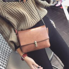 LEFTSIDE New 2017 7 Color Clain Lock  Fashion Women CrossBody Bag Purse shoulder Bags Simple Small handbag Women Messenger Bags