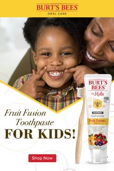 Burt's Bees Fruit Fusion Kids Toothpaste with Fluoride fights cavities with the delicious flavor of fruit fusion, giving your kids – and you – something to smile about. Burt's Bees toothpastes with fluoride are ADA accepted. Tap the Pin to learn more and Teeth Whitening Cost, Natural Teeth Whitening, Burts Bees, Weight Loss Drinks, Weight Loss Smoothies, Bees For Kids, Kids Toothpaste, Fruits For Kids, Lose 10 Pounds In A Week