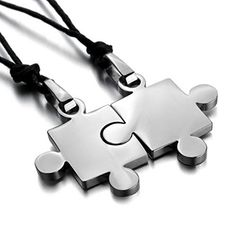JBlue Jewelry Men's His & Hers Couples Gift Puzzle Stainless Steel Pendant Love Necklace Set Valentine Silver (with Gift Bag) JBlue Jewelry http://www.amazon.com/dp/B00C3EN2V0/ref=cm_sw_r_pi_dp_E51Otb1925VBCJZF