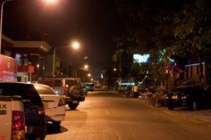 Downtown of Vientiane by night