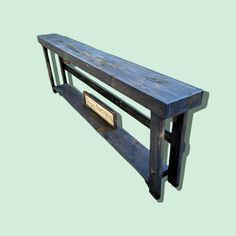 Rustic Sofa Tables, Long Sofa Table, Forest Conservation, Wood Display, Salvaged Wood, Custom Woodworking, Coastal Homes, How To Distress Wood, Types Of Wood