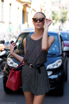 Love this minicute dress Candice swanepoel is wearing!