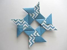 Origami 8-pointed Hollow Ninja Star Folding Instructions Part 1