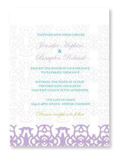 Shear Silk Wedding Invitation.