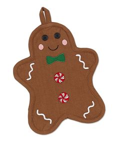 Look at this Design Imports Gingerbread Man Potholder - Set of Two on #zulily today!