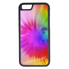 CellPowerCasesTM Tie Dye Rainbow iPhone 6 (4.7) V1 Black Case ($9.98) ❤ liked on Polyvore featuring accessories, tech accessories and black