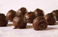 Oreo Cake Balls!  These are to die for.  I could bribe people with these things they ate so good.